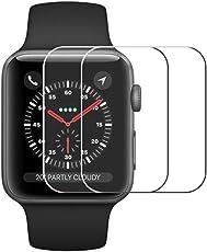 Vicstar [2 Stück] Apple Watch 4 44mm Schutzfolie, Apple Watch 4 44mm Panzerglas Displayschutzfolie Premium Tempered Glas Folie für Apple Watch 4 44mm