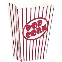 8 Popcorn-Tüten rot-weiss gestreift 12,7 x 9,5 x 5 cm