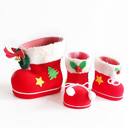 ZUOAO 3Pieces Stivali di Caramelle per Natale