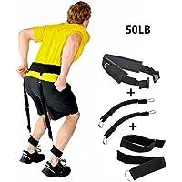 Acolchada ajustable Jump Training cinturón rebote de resistencia entrenador de la cintura Pierna fitness accesorios, 5pc/set