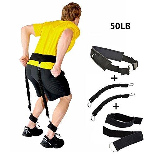Verstellbare, gepolsterte Jump Training Gürtel Widerstand Taille Träger Trainer Beinlänge Stärke Bounce Fitness Zubehör, 5pc/set