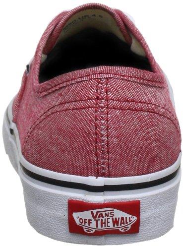 Vans U Authentic, Baskets mode mixte adulte Rouge (Classic Chambr)