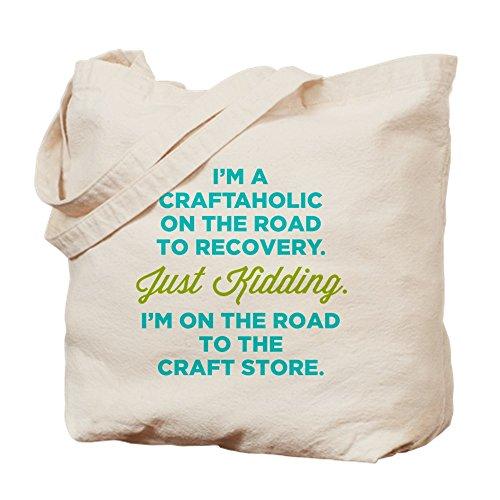 CafePress-I 'm a craftaholic On The Road To Recovery-Leinwand Natur Tasche, Reinigungstuch Einkaufstasche M khaki