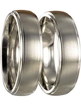 Zwei Edelstahl L316 Ringe Partnerringe Trauringe Eheringe x20080