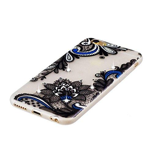 Etui iPhone 6 Plus, Coque iPhone 6 Plus Silicone, SpiritSun Etui Coque TPU Slim Bumper pour Apple iPhone 6 Plus / 6S Plus (5.5 pouces) Souple Lumineux Etui Housse de Protection Flexible Soft Case Cas  Lotus