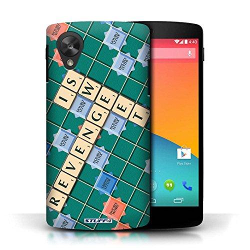 Kobalt® Imprimé Etui / Coque pour LG Google Nexus 5/D821 / Ennemis Proximité conception / Série Mots de Scrabble Douce Vengeance