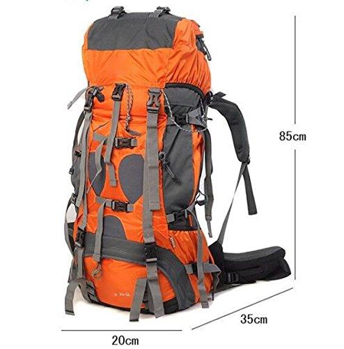 Wasserdichte Outdoor Bergsteigen Tasche Männer Und Frauen Reise Rucksack Walking Camping Travel Package,Orange Armygreen