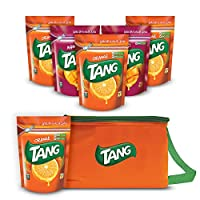 ‏‪Tang, 500gm - Pack of 6 (4 Orange and 2 Mango) with Cooler Bag‬‏