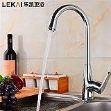 Eeayyygch Wasserhahn Verchromter Edelstahl-Einloch-Warm- und Kaltwasserhahn für vertikales Becken Badezimmerküche (Farbe : -, Größe : -)
