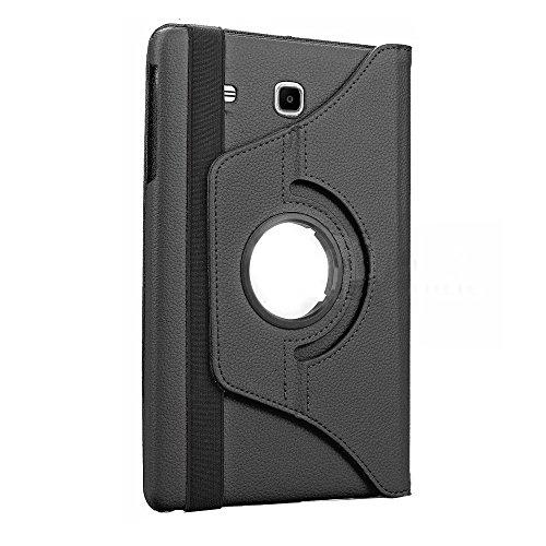Galaxy Tab E 8Fall durch kiq Slim Folio Ständer PU Leder Schutzhülle Samsung Galaxy Tab E 8.0T377, Schwarz -