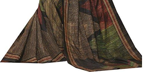 Design Willa Women's Cotton Saree With Blouse Piece (Dwcshr045 _Multicolor)