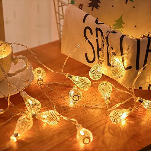 Baron d.c luci decorative a led girl room decorations lampadine a forma di goccia vuota camera da letto luci notturne luci natalizie, 6m40 luci