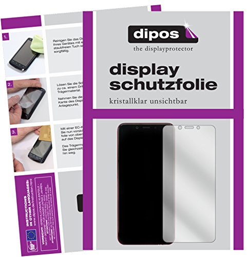 dipos I 6X Schutzfolie klar passend für Xiaomi Mi A2 Folie Bildschirmschutzfolie
