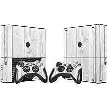 XBOX 360 E Skin Design Foils Aufkleber Schutzfolie Set - White Wood Motiv