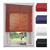 ourdeco® Jalousie aus PVC / 60 x 160 cm (Breite x Höhe) / Farbe rot/lichtdurchlässig bis Blickdicht/Einfache Montage an Wand oder Decke