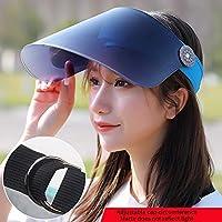 N / A - Sombrero de sol para bicicleta eléctrica, para adultos y ocio, versión coreana de plástico, con lentes de plástico