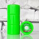 HELLMET Longboar Ding Green Mamba Longboard Wheels Neon Green 70mm