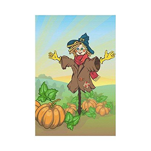 Jagfhhhs Halloween-Flagge, niedlicher Geisterschädel, Polyester, Gartenflagge, Haus Banner, Gruselige Nacht-Eule, Baum, Zweig, Dekorative Flagge für Party, Hof, Zuhause und Außendekoration 16x30 ()