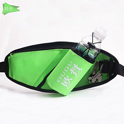 KANG@ Sport Taille Pack Multifunktions Running Männer und Frauen Outdoor Handy Tasche Anti-Diebstahl intime Stealth wasserdicht Beutel Grün