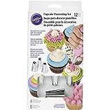 Wilton Set 12 Accessori Base per Decorare Cupcake Decorazione Cupcakes, Bianco