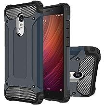 Hongmi Note4 Funda, HICASER Híbrida Case [Heavy Duty] Rugged Armor Cover, Dual Layer Shock Resistant Carcasa para Xiaomi Redmi Note 4 Dark Azul