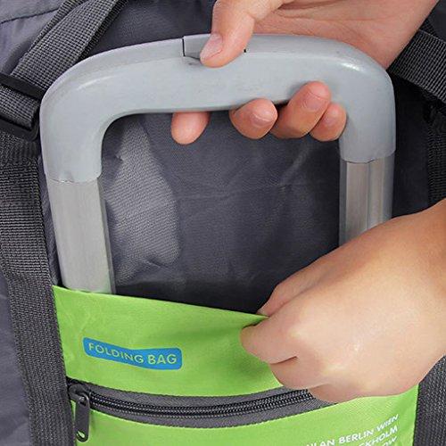 QHGstore Reisen Big Size Gepäck-Falte-Kleidung-Speicher Carry-On Duffle Bag Rose Red