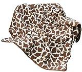 Zaloop Wolldecke Schurwolle Giraffe Zebra 100% Merino Schafwolle Kuscheldecke Wohndecke (Giraffe braun, ca. 140x200 cm)