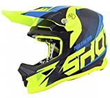 SHOT Casco Cross Furious Ultimate Kid, Blu/Neon/Giallo, Taglia YM
