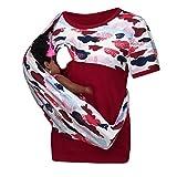 Damen Umstandsmode Stillshirt Stilltop,Frauen Stillen Pflege Druck Oansatz T Shirt Bluse Lässige Tops Bluse,Schwangerschaftsmode Stillkleidung Umstandsmode Günstig
