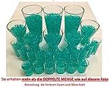 8200 Stück Wasserperlen Crystal Erde – Wasserkugeln Vasenfüller Dekoration Deko – 200Gramm –– für Pflanzen/Glase/Vase – Perlen Kugeln 11-15mm Durchmesser – circa 25 Liter - TÜRKIS