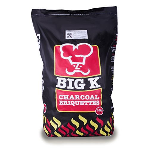The Chemical Hut 10kg Premium Long Lasting Charcoal Briquettes for Summer Bank Holiday World Cup BBQ Cooking/Tandoori & Turkish Ovens/Grilling - Comes with THE LOG HUT� Woven Sack