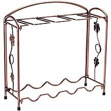 El Original plegable hierro rack, para botella de vino y gafas soporte – estantería –