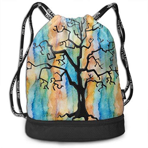 Men Women Waterproof Drawstring Backpack Rucksack Yoga Dance Travel Shoulder Bags ()