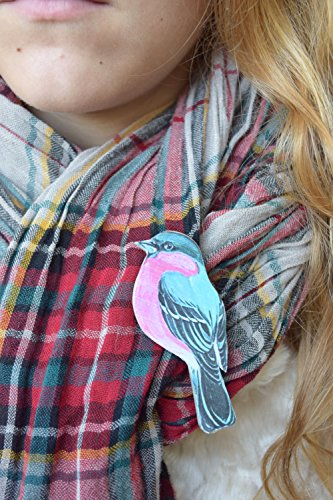 - 51bGvDgRNtL - Bird brooch Bird pin Animal jewelry Bird wood brooch Gift for girlfriend Gift for mom blue kids pin Baby pin Scarf accessory Handbag accessory Shawl pin Girl brooch Woman brooch Rustic jewelry  - 51bGvDgRNtL - Deal Bags