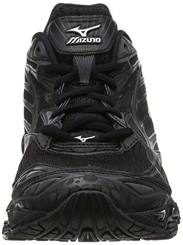 Mizuno Wave Prophecy 6 Nova, Chaussures de Running Entrainement Homme Noir (Black/silver)