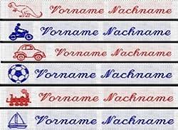 IPOTCH 200x Premium W/äscheetiketten B/ügelschilder Namensschilder W/äschenamen f/ür einn/ähen einb/ügeln