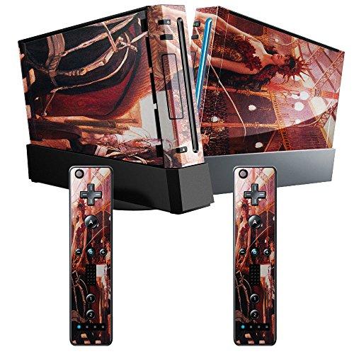 Preisvergleich Produktbild Tissot - The Women In The Cars,  Designfolie Sticker Skin Aufkleber Schutzfolie mit Farbenfrohem Design für Nintendo Wii
