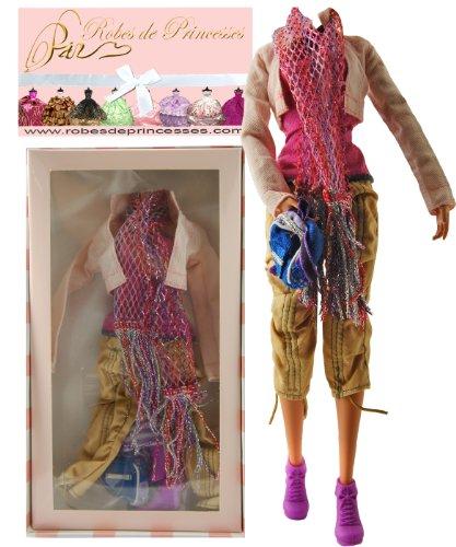 """Preisvergleich Produktbild Kleidungsset """"Isa"""" für Barbie-Puppe, für Disney-Puppen und andere Puppen, limitierte Auflage"""