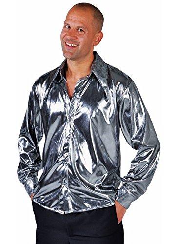 Glitterhemd-Silberhemd-Partyhemd-Schlagerstar-Popstar-Showauftritt-XXL