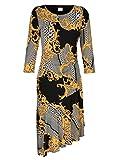 Alba Moda Damen Kleid mit modischem Ketten-Dessin Allover Hautfreundlich 38 by