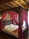 Vier spitzen ecke moskitonetz betthimmel,Chinesische retro-gaze hotel netting bettwäsche moskitonetz-C Queen1