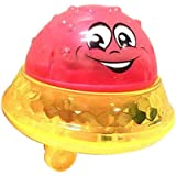 AchidistviQ Baby Bath Toy Lovely LED Flashing Musical Ball Water Squirting Sprinkler Baby Bath Shower Toy Red