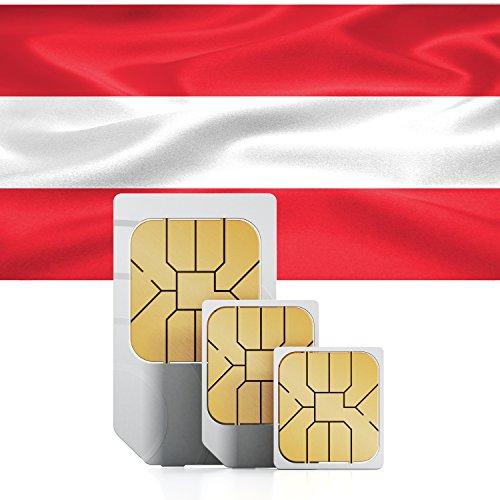 travSIM Österreich Prepaid Daten SIM Karte + 5GB für 30 Tage - Standard,Micro & Nano SIM
