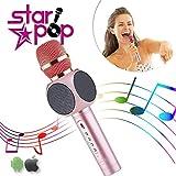 STARPOP Micrófono Inalámbrico Karaoke con Altavoz Portátil Bluetooth | 2 Altavoces Incorporados Perfecto...