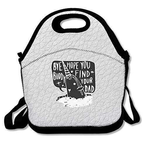 Sccarlettly Schulranzen Hoffe Sie Buddy Finden Casual Chic Sie Dad Lunchbox Tasche Schultasche Mädchen Jungen Ranzen Schulrucksack Studenten Casual Style Schultaschen Taschen