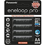 #7: Panasonic Battery Eneloop Pro upto 2550mAh 4xAA Rechargeable Ni-MH Battery BK-3HCCE/4BN