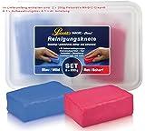 Petzoldt's 2x 200 Gramm Profi-Reinigungsknete MAGIC-Clean, Blau und Rot