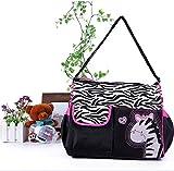 kingwin Multifunktional Wickeltasche Mama Handtasche Cartoon Rosy Zebra Muster