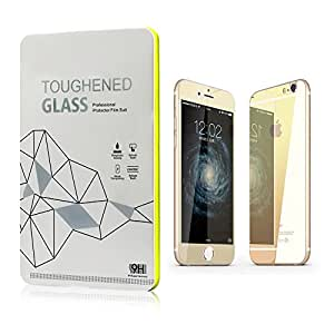 Leesentec iphone 6s 4.7 inch Electroplating Mirror Effect Front & Back Tempered Glass Screen Protector Gold