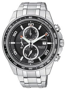 Citizen CA0340-55E - Reloj cronógrafo de cuarzo para hombre, correa de titanio multicolor de Citizen